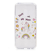 Etui Til Samsung Galaxy S9 S9 Plus Mønster Bakdeksel enhjørning Myk TPU til S9 Plus S9 S8 Plus S8