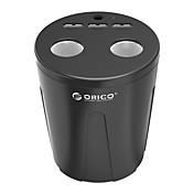 orico mp-3u2s 3usb telefonlader vann koppholder med 2 sigarettenner - svart