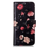 Etui Til Samsung Galaxy S8 Plus S8 Kortholder Lommebok Flipp Magnetisk Mønster Heldekkende etui Blomsternål i krystall Hard PU Leather til