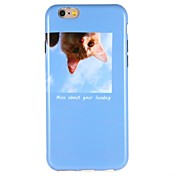 Funda Para Apple iPhone 6 iPhone 7 Diseños Funda Trasera Gato Animal Suave TPU para iPhone 7 Plus iPhone 7 iPhone 6s Plus iPhone 6s