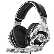 SADES SA-810 Cinta Con Cable Auriculares Dinámica El plastico De Videojuegos Auricular Con Micrófono Auriculares