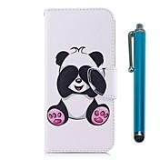 Etui Til Samsung Galaxy J7 (2017) J5 (2017) Kortholder Lommebok med stativ Flipp Magnetisk Heldekkende etui Panda Hard PU Leather til J7