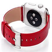 Ver Banda para Apple Watch Series 3 / 2 / 1 Apple Hebilla Moderna Cuero Auténtico Correa de Muñeca