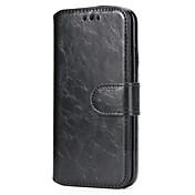 Etui Til Apple iPhone X iPhone 8 Kortholder med stativ Heldekkende etui Helfarge Hard PU Leather til iPhone X iPhone 8 Plus iPhone 8