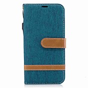 Etui Til Samsung J5 (2017) J3 (2017) Kortholder Lommebok Støtsikker med stativ Flipp Heldekkende etui Helfarge Hard tekstil til J5 (2017)
