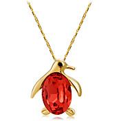 Mujer Pájaro Forma Animales Moda Collares con colgantes Cristal Oro rosa Cristal Collares con colgantes Ceremonia Formal