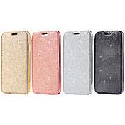 Funda Para Apple iPhone X iPhone 8 Soporte de Coche Flip Funda de Cuerpo Entero Color sólido Brillante Dura Cuero de PU para iPhone X