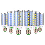 YWXLIGHT® 6pcs 25W 2000-2500lm E26 / E27 LED-kornpærer T 72 LED perler SMD 5730 Dekorativ Varm hvit Kjølig hvit 85-265V