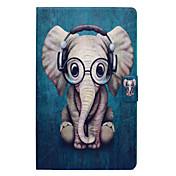 Etui Til Samsung Galaxy Tab E 9.6 Kortholder / med stativ / Flipp Heldekkende etui Elefant Hard PU Leather til Tab E 9.6