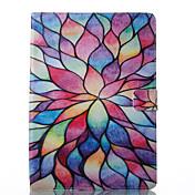 Etui Til Apple iPad 10.5 iPad (2017) Lommebok med stativ Flipp Mønster Auto Sove/Våkne Heldekkende etui Blomsternål i krystall Hard PU