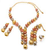 Mujer Perla / Chapado en Oro Conjunto de joyas 1 Collar / 1 Brazalete / 1 Anillo - Importante / Moda Forma de Círculo Dorado Juego de