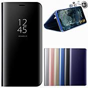 Funda Para Huawei P20 Pro P20 con Soporte Espejo Funda de Cuerpo Entero Un Color Dura Cuero de PU para Huawei P20 lite Huawei P20 Pro