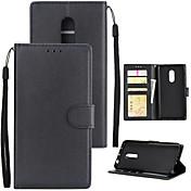 Etui Til Xiaomi Redmi 5 Plus Redmi 5A Kortholder Lommebok Støtsikker Flipp Heldekkende etui Ensfarget Hard PU Leather til Xiaomi Redmi