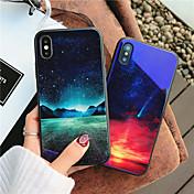 Etui Til Apple iPhone X iPhone 8 Støtsikker Mønster Bakdeksel Landskap Hard Herdet glass til iPhone X iPhone 8 Plus iPhone 8 iPhone 7