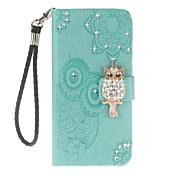 Etui Til Huawei P smart Mate 10 lite Kortholder Lommebok med stativ Flipp Mønster Heldekkende etui Ugle Hard PU Leather til P smart Mate