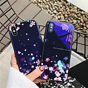 Etui Til Apple iPhone X iPhone 8 Støtsikker Mønster Bakdeksel Blomsternål i krystall Hard Herdet glass til iPhone X iPhone 8 Plus iPhone