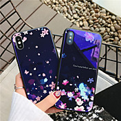 Etui Til Apple iPhone X / iPhone 8 Mønster Bakdeksel Blomsternål i krystall Hard Herdet glass til iPhone X / iPhone 8 Plus / iPhone 8