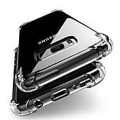 Etui Til Samsung Galaxy S9 S9 Plus Støtsikker Gjennomsiktig Kropp Bakdeksel Ensfarget Myk TPU til S9 Plus S9 S8 Plus S8 S7 edge S7