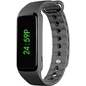 Herre Dame Digital Digital Watch Kinesisk Kronograf Tachymeter Hverdagsklokke LCD Silikon Band Elegant Mote Svart