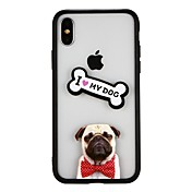 Etui Til Apple iPhone X iPhone 8 Støtsikker Bakdeksel Hund Hard PC til iPhone X iPhone 8 Plus iPhone 8 iPhone 7 Plus iPhone 7 iPhone 6s