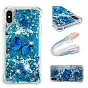 Funda Para Apple iPhone X / iPhone 8 Plus Antigolpes / Líquido / Diseños Funda Trasera Mariposa / Brillante Suave TPU para iPhone X /