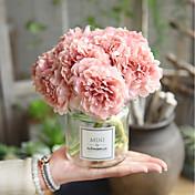 Kunstige blomster 5 Gren Bryllup / Bryllupsblomster Peoner / Evige blomster Bordblomst