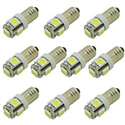 10pcs E10 Coche Bombillas 2W SMD 5050 85lm 5 LED Luces interiores For Universal / Motores generales Motores generales Universal