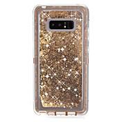 Etui Til Samsung Galaxy Note 8 Støtsikker / Flommende væske / Rustning Bakdeksel Rustning / Glimtende Glitter Hard PC til Note 8