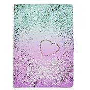 Etui Til Apple iPad 4/3/2 iPad Pro 9.7 Kortholder Støtsikker med stativ Flipp Auto Sove / Våkne Heldekkende etui Hjerte Hard PU Leather