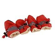 Perros / Gatos Botas / zapatos del animal doméstico Deportes y Exterior Un Color Rojo / Azul / Rosa Para mascotas