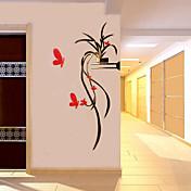 Dekorative Mur Klistermærker - 3D Mur Klistremerker Romantik / Botanisk / Blomstret / Botanisk Stue / Drengeværelse / Entré