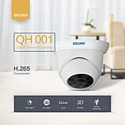 escam qh001 onvif h.265 1080p p2p ir dome ip kamera med smart analyse funksjon