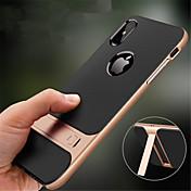 Funda Para Apple iPhone XR / iPhone XS Max con Soporte Funda Trasera Un Color Dura ordenador personal para iPhone XS / iPhone XR / iPhone XS Max