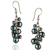 preiswerte -Damen Sterling Silber Silber 1 Tropfen-Ohrringe - Irregulär Ohrringe Für