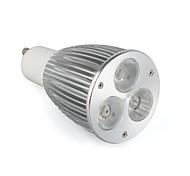 GU10 LED Spotlight 3 leds High Power LED 520lm Warm White Cold White Natural White AC 85-265