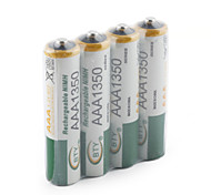4Pcs 1350Mah Bty Ni-Mh Aaa 1.2V Quanlity Rechargeable Battery