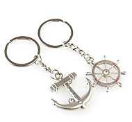 cheap -Keychain Jewelry Silver Anchor Alloy Fashion Birthday Gift