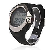 Hombre Reloj de Pulsera Digital LCD Calendario Cronógrafo alarma Monitor de Pulso Cardiaco Caucho Banda Negro Negro/Gris