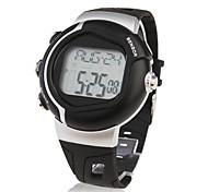 Недорогие -Мужской Спортивные часы LCD Tонометр Календарь Секундомер тревога Цифровой Группа Черный