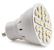 Недорогие -150 lm GU10 Точечное LED освещение MR16 24 светодиоды SMD 5050 Тёплый белый AC 220-240V
