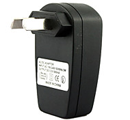cheap -AU Plug USB AC DC Power Supply Wall Charger Adapter MP3 MP4 DV Charger (Black)