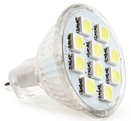 abordables -1W 50-80lm GU4(MR11) Focos LED MR11 10 Cuentas LED SMD 5050 Blanco Natural 12V