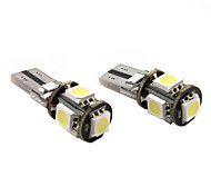 T10 5*5050 SMD White LED Car Signal Light CANBUS High Quality