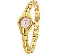 Women's Fashionable Style Alloy Analog Quartz Bracelet Watch (Gold) Cool Watches Unique Watches Strap Watch