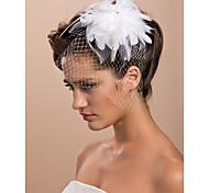 Недорогие -Свадебные вуали Один слой Короткая фата Фата клетки птицы Обрезанная кромка 11,81 В (30 см) Тюль