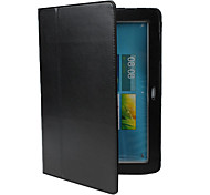 cheap -Case For Samsung Galaxy Samsung Galaxy Case with Stand Flip Full Body Cases Solid Color PU Leather for Note 10.1 Tab 2 10.1