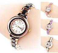Damen Modeuhr Armband-Uhr Quartz Legierung Band Schwarz Weiß Rosa Lila Weiß Schwarz Purpur Rosa