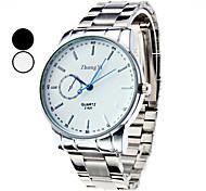 cheap -Men's Quartz Wrist Watch Casual Watch Alloy Band Charm Dress Watch Silver