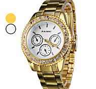 Men's Watch Dress Watch Diamond Case Gold Steel Band Wrist Watch Cool Watch Unique Watch