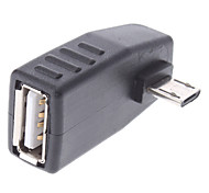 USB femmina a adattatore Micro USB OTG maschio per telefoni cellulari Samsung e altri